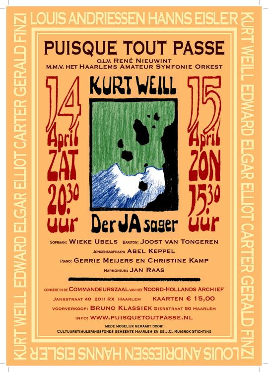 Affiche concerten 14 en 15 april 2013