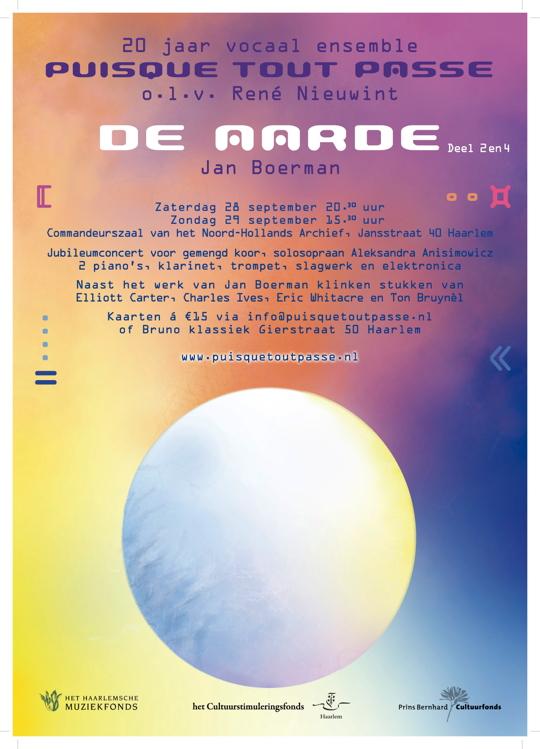 Affiche concerten 28 en 29 september 2013