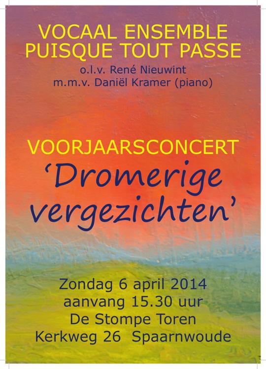 Affiche concert 6 april 2014