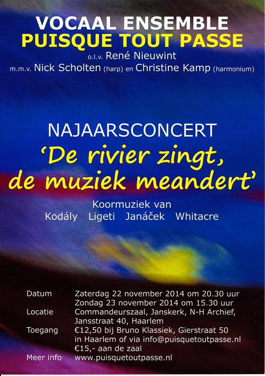 Affiche concerten 22 en 23 november 2014