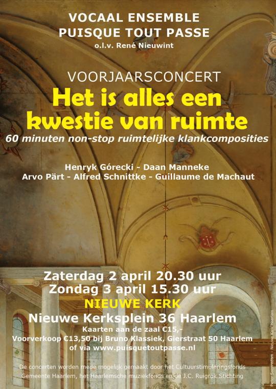 Flyer concerten 2 en 3 april 2016