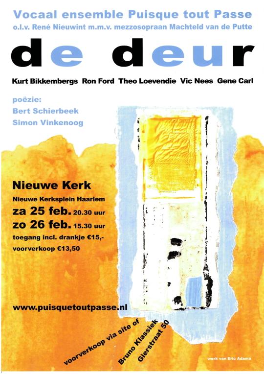 Affiche concerten 25 en 26 februari 2017